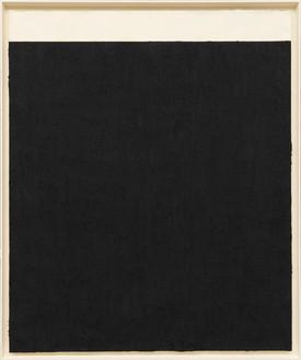 Richard Serra, Elevational Weights, Black Matter, 2010 Paintstick on handmade paper, 82 × 68 inches (208.3 × 172.7 cm)© Richard Serra/Artists Rights Society (ARS), New York
