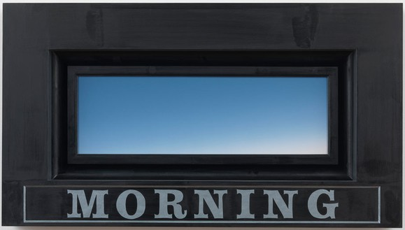 Neil Jenney, Morning, 2012 Acrylic on canvas with painted wood frame, 18 × 32 inches (45.7 × 81.3 cm)© Neil Jenney. Photo: Rob McKeever