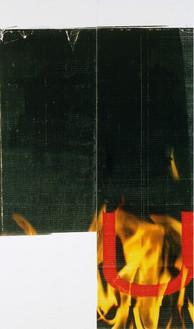 Wade Guyton, Untitled, 2011 Epson UltraChrome inkjet on linen, 93 × 55 inches (236.2 × 139.7 cm)© Wade Guyton