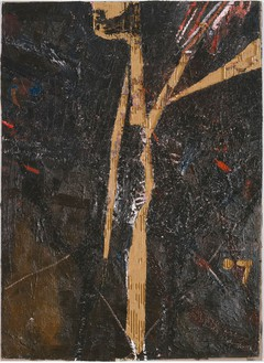 Mark Grotjahn, Untitled (Carve Room 702 Memories of the Nile 737), 2007 Oil on cardboard on linen mounted on panel, 45 ½ × 33 inches (115.5 × 83.8 cm)© Mark Grotjahn