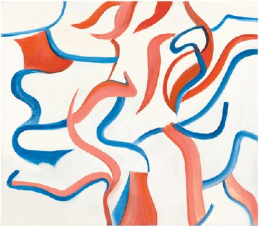 Willem de Kooning, <no title>, 1984 Oil on canvas, 77 × 88 inches (195.6 × 223.5 cm)© 2013 The Willem de Kooning Foundation/Artists Rights Society (ARS), New York, photo by Tim Nighswander/IMAGING4ART