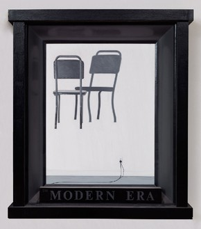 Neil Jenney, The Modern Era, 1971–72 Oil on wood, 35 ¾ × 31 ¾ inches (90.8 × 80.6 cm)