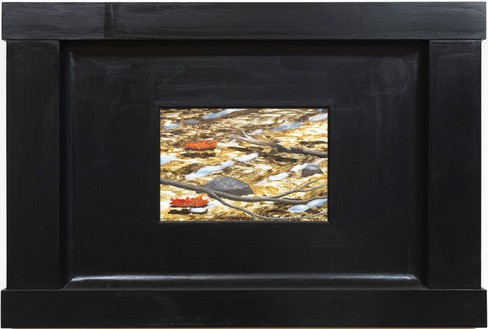 Neil Jenney, North American Aquatica, 2006–07 Oil on wood in artist's frame, 31 ½ × 46 ¾ × 3 ¼ inches (80 × 118.7 × 8.3 cm)