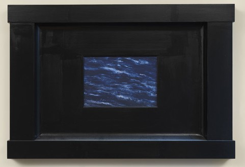 Neil Jenney, North America Aquatica, 2006–07 Oil on wood in artist's frame, 31 ½ × 46 ¾ × 3 ¼ inches (80 × 118.7 × 8.3 cm)