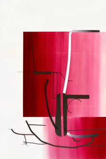 Albert Oehlen, Untitled, 2014 Oil on Dibond, 147 ⅝ × 98 ½ inches (375 × 250 cm)© Albert Oehlen. Photo: Lothar Schnepf