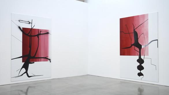 Installation video Artwork © Albert Oehlen