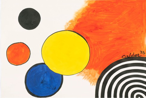 Alexander Calder, Occident, 1975 Gouache and ink on paper, 29 × 43 inches (73.6 × 109.2 cm)© 2014 Calder Foundation, New York/Artists Rights Society (ARS), New York