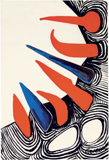 Alexander Calder, Jungle, 1971 Gouache and ink on paper, 43 ¼ × 29 ½ inches (109.9 × 74.9 cm)© 2014 Calder Foundation, New York/Artists Rights Society (ARS), New York