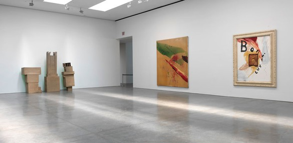 Installation view Artwork, left to right: © The Robert Rauschenberg Foundation 2014/Licensed by VAGA, New York, © 2014 Julian Schnabel/Artists Rights Society (ARS), New York. Photo: Rob McKeever