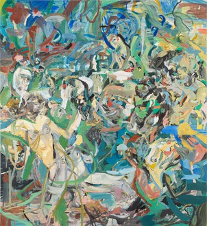 Cecily Brown, The Girl and Goat, 2013–14 Oil on linen, 97 × 89 inches (246.4 × 226.1 cm)Photo by Rob McKeever