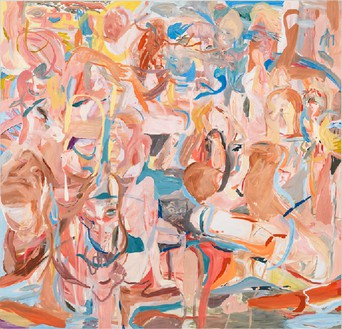 Cecily Brown, Combing the Hair (Côte d'Azur), 2013 Oil on linen, 109 × 113 inches (276.9 × 287 cm)Photo by Rob McKeever