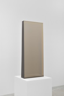 Dewain Valentine, Column Gray, 1975 Cast polyester resin, 42 ⅞ × 17 ⅜ × 5 ½ inches (109 × 44 × 14 cm)