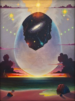 Ingo Swann, Cosmic Egg, 1994 Oil on canvas, 59 × 44 inches (149.9 × 111.8 cm)Photo: Benjamin Lee Ritchie Handler