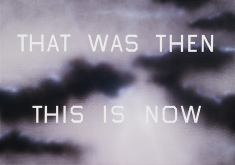 Ed Ruscha, That Was Then This Is Now, 2014 Lithograph, 35 ½ × 46 inches (87.5 × 116.8 cm), edition of 75© Ed Ruscha