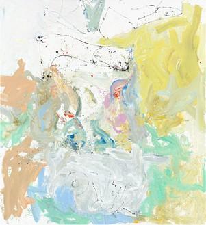 Georg Baselitz, mehr ich tut ach mer willn (Barle flel wil), 2013 Oil on canvas, 118 ⅛ × 108 ¼ inches (300 × 275 cm)© Georg Baselitz. Photo: Jochen Littkemann