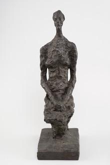 Alberto Giacometti, Annette assise (petite), 1956 (cast 1981) Bronze, 20 ¼ × 6 ⅛ × 9 ⅜ inches (51.3 × 15.6 × 23.7 cm), AP II/II, Susse© 2014 Alberto Giacometti Estate/Licensed by VAGA and ARS, New York
