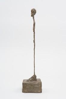 Alberto Giacometti, [Femme debout], c. 1961 (cast 1993) Bronze, 17 ⅞ × 3 ¼ × 4 ⅜ inches (45.4 × 8.1 × 11.2 cm), edition of 8© 2014 Alberto Giacometti Estate/Licensed by VAGA and ARS, New York