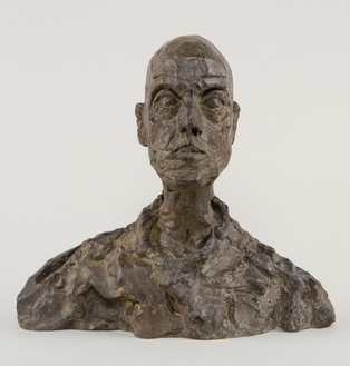 Alberto Giacometti, [Head of a Man (Lotar I)], c. 1964–65 (cast 1968) Bronze, 10 ¼ × 11 ⅛ × 4 ⅛ inches (26 × 28.1 × 10.4 cm), E.A. I/II© 2014 Alberto Giacometti Estate/Licensed by VAGA and ARS, New York