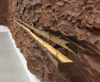 Giuseppe Penone, Scrigno, 2007 (detail) Leather, bronze, gold, and resin, Overall Dimensions Variable, edition of 4© Archivio Penone, photo by Mike Bruce