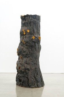 Giuseppe Penone, Luce zenitale / Zenithal Light, 2012 Bronze and gold, 157 ½ × 59 ⅛ × 59 ⅛ inches (400 × 150 × 150 cm)© Giuseppe Penone, photo by Josh White