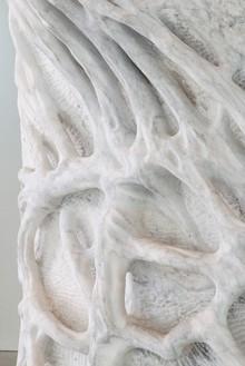 Giuseppe Penone, Anatomia / Anatomy, 2011 (detail) White Carrara Marble, 124 × 77 × 62 inches (315 × 195.6 × 157.5 cm)© Giuseppe Penone, photo by Josh White