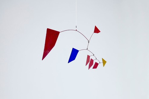 Alexander Calder, Little Red, 1960 Painted metal and wire, 44 ⅛ × 21 ⅝ × 11 ¾ inches (112 × 55 × 30 cm)© Calder Foundation, New York/Artists Rights Society (ARS), New York. Photo: Zarko Vijatovic