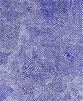 Harmony Korine, Blue Checker, 2014 Oil on canvas, 102 × 84 inches (259.1 × 213.4 cm)Photo by Rob McKeever