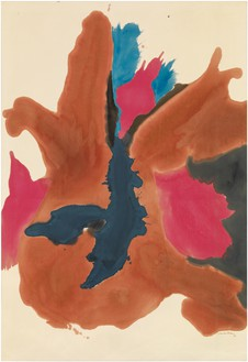 Helen Frankenthaler, Pink Lady, 1963 Acrylic on canvas, 84 ½ × 58 inches (214.6 × 147.3 cm)© 2014 Helen Frankenthaler Foundation, Inc./Artists Rights Society (ARS), New York. Photo: Rob McKeever