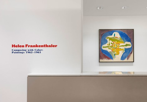 Installation view Artwork © 2014 Helen Frankenthaler Foundation, Inc./Artists Rights Society (ARS), New York. Photo: Rob McKeever