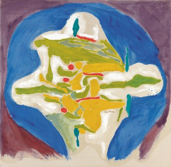Helen Frankenthaler, Hilltown, 1962 Acrylic on canvas, 42 ½ × 46 ¾ inches (108 × 118.7 cm)© 2014 Helen Frankenthaler Foundation, Inc./Artists Rights Society (ARS), New York. Photo: Rob McKeever