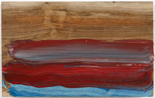 Howard Hodgkin, The Sea, Goa, 2013 Oil on wood, 8 ¾ × 13 ⅞ inches (22.2 × 35.2 cm)© Howard Hodgkin Estate
