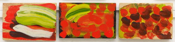 Howard Hodgkin, Indian Veg, 2013–14 Oil on wood, 9 ¼ × 41 ¼ inches (23.5 × 104.8 cm)© Howard Hodgkin Estate