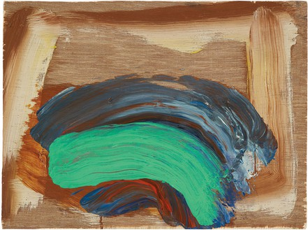 Howard Hodgkin, Indian Waves, 2013–14 Oil on wood, 9 × 12 inches (22.9 × 30.5 cm)© Howard Hodgkin Estate
