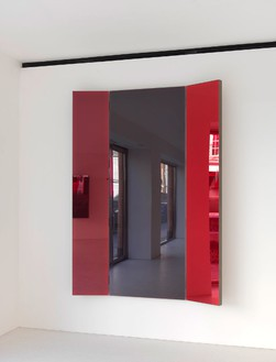 Jean Nouvel, Miroir B, 2014 (view 1) Walnut and colored mirrors, Dimensions variable, edition of 6Photo by Mike Bruce