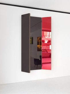 Jean Nouvel, Miroir B, 2014 (view 3) Walnut and colored mirrors, Dimensions variable, edition of 6Photo by Mike Bruce