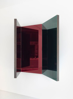 Jean Nouvel, Miroir C, 2014 (view 1) Walnut and colored mirrors, Dimensions variable, edition of 6Photo by Mike Bruce