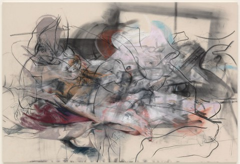 Jenny Saville, Untitled, 2014 Pastel and charcoal on canvas, 66 ⅞ × 98 ⅜ inches (170 × 250 cm)© Jenny Saville. Photo: Mike Bruce