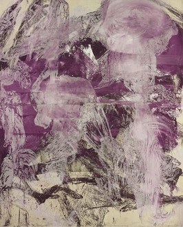 Julian Schnabel, A Little Later, 1990 Oil, gesso on white tarp, 96 × 76 inches (243.8 × 193 cm)Photo by Rob McKeever
