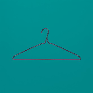 Michael Craig-Martin, Untitled (coat hanger), 2014 Acrylic on aluminum, 48 × 48 inches (122 × 122 cm)Photo by Mike Bruce