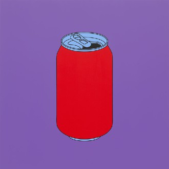 Michael Craig-Martin, Untitled (coke can), 2014 Acrylic on aluminum, 48 × 48 inches (122 × 122 cm)Photo by Mike Bruce