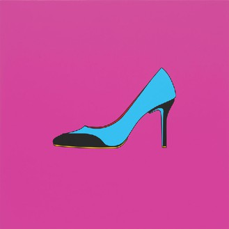 Michael Craig-Martin, Untitled (high heel), 2014 Acrylic on aluminum, 48 × 48 inches (122 × 122 cm)Photo by Mike Bruce