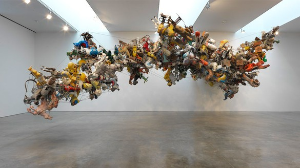 Nancy Rubins, Our Friend Fluid Metal, 2014 (view 1) Aluminum, stainless steel, 204 × 500 × 281 inches (518.2 × 1,270 × 713.7 cm)Photo by Rob McKeever