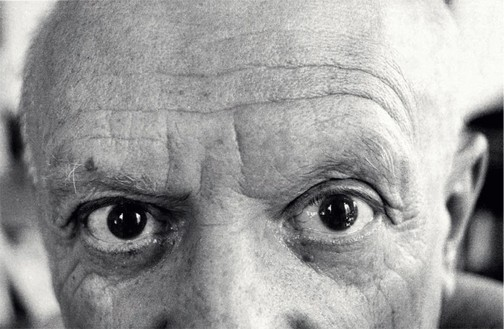 Pablo Picasso, photographed by David Douglas Duncan, 1957 © David Douglas Duncan, Harry Ransom Center, The University of Texas at Austin