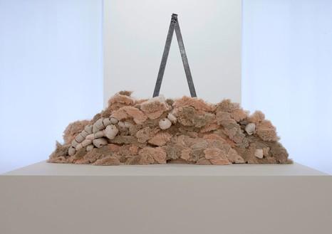 Sheila Hicks, Compass Arica, 2012–13 Linen and iron, 59 × 47 ¼ × 27 ½ inches (150 × 120 × 70 cm)Photo: Zarko Vijatovic