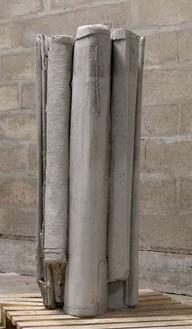 Tatiana Trouvé, Refolding 2011, 2011 Concrete, 41 ¾ × 22 ⅞ × 17 inches (106 × 58 × 43 cm)© Tatiana Trouvé