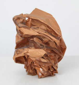 John Chamberlain, Untitled, 1969 Brown resin on brown paper, 5 × 5 × 5 inches (12.7 × 12.7 × 12.7 cm)© 2014 Fairweather & Fairweather LTD/Artists Rights Society (ARS), New York