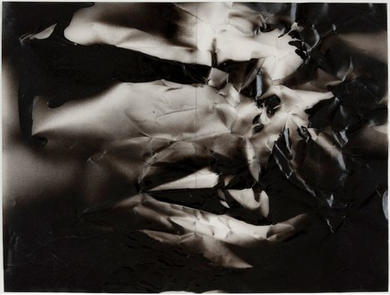Steven Parrino, Untitled, 1991 Sprayed enamel and pencil on vellum, 9 × 12 inches (22.9 × 30.5 cm)