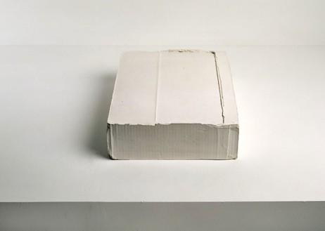 Rachel Whiteread, FOLDED, 2004 Plaster, 4 × 11 ½ × 15 ¼ inches (10.3 × 29 × 39 cm)