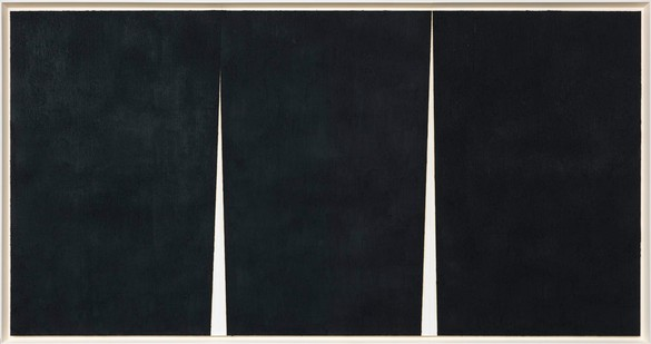 Richard Serra, Double Rift #2, 2011 Paintstick on handmade paper, framed: 105 ⅛ × 199 ⅛ × 3 ¾ inches (267 × 505.8 × 9.5 cm)© Richard Serra/Artists Rights Society (ARS), New York. Photo: Rob McKeever