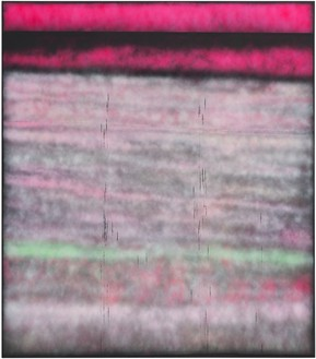 Sterling Ruby, SP299, 2014 Spray paint on synthetic canvas, 96 × 84 inches (243.8 × 213.4 cm)Photo by Robert Wedemeyer